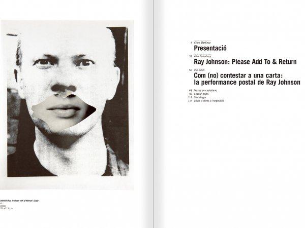 """Selecció del catàleg """"Ray Johnson. Please Add To & Return"""" pàgines 2 i 3"""