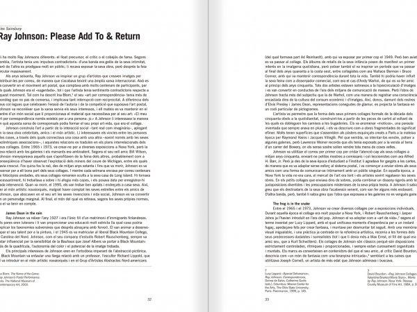 """Selecció del catàleg """"Ray Johnson. Please Add To & Return"""" pàgines 32 i 33"""