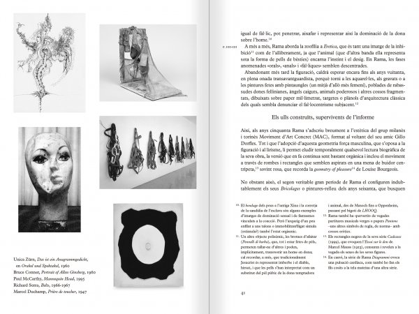 Selection from the catalogue 'The passion according to Carol Rama', pages 40 and 41