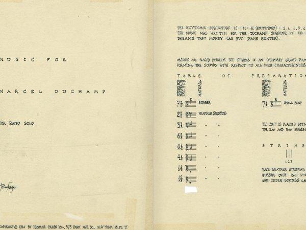 """Selecció del catàleg """"L'anarquia del silenci. John Cage i l'art experimental"""" pàgines 46 i 47"""