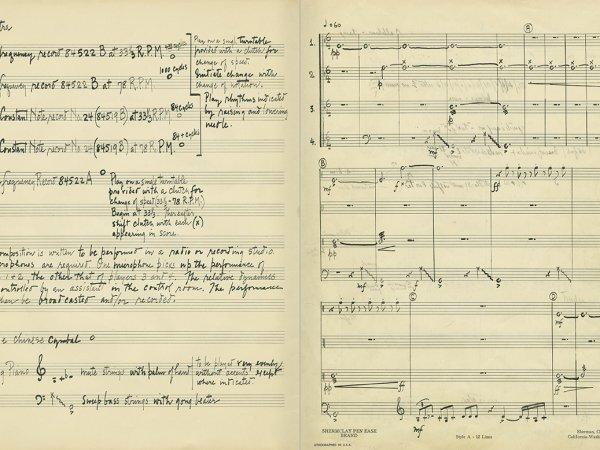 """Selecció del catàleg """"L'anarquia del silenci. John Cage i l'art experimental"""" pàgines 6 i 7"""