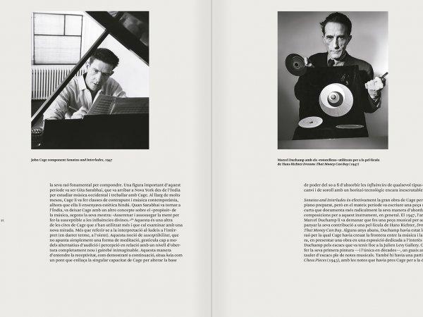 """Selecció del catàleg """"L'anarquia del silenci. John Cage i l'art experimental"""" pàgines 70 i 71"""