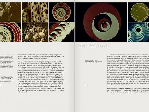 """Selecció del catàleg """"L'anarquia del silenci. John Cage i l'art experimental"""" pàgines 72 i 73"""
