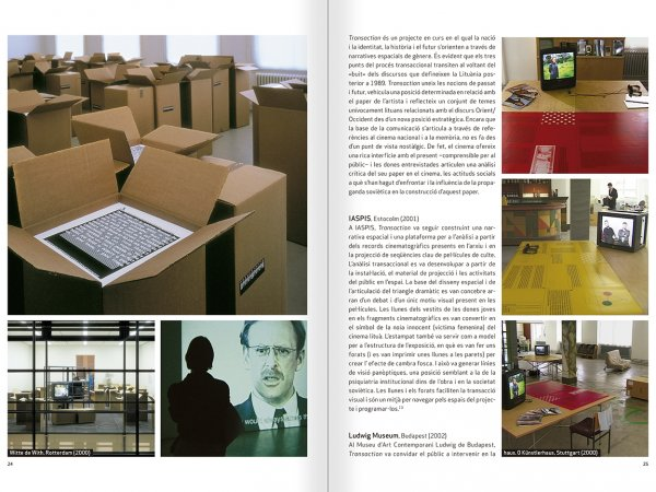 """Selecció del catàleg """"Nomeda & Gediminas Urbonas. Dispositius per a l'acció"""" pàgines 24 i 25"""