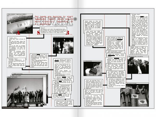 """Selecció del catàleg """"Nomeda & Gediminas Urbonas. Dispositius per a l'acció"""" pàgines 64 i 65"""