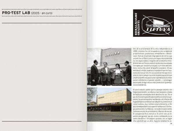 """Selecció del catàleg """"Nomeda & Gediminas Urbonas. Dispositius per a l'acció"""" pàgines 68 i 69"""