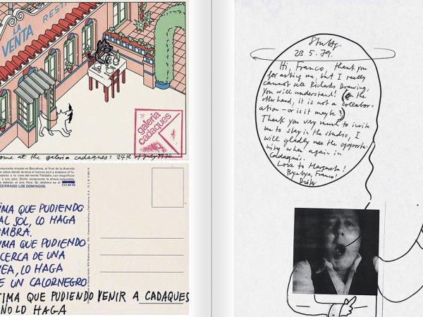 """Selecció del catàleg """"Galeria Cadaqués. Obres de la Col·lecció Bombelli"""" pàgines 52 i 53"""
