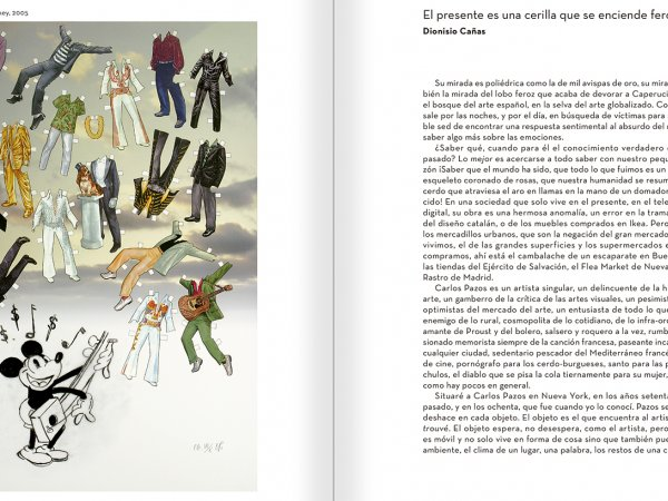 """Selección del catálogo """"Carlos Pazos. No me digas nada"""" páginas 224 y 225"""