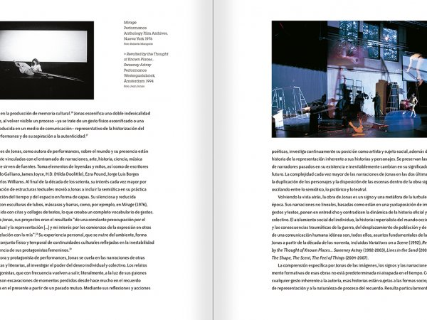 Selection from the catalogue 'Joan Jonas. Timelines: Transparencies in a Dark Room', pages 24 and 25