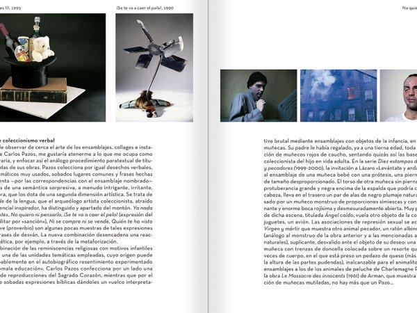 """Selección del catálogo """"Carlos Pazos. No me digas nada"""" páginas 258 y 259"""
