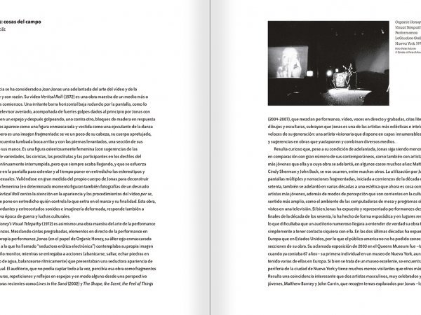 Selection from the catalogue 'Joan Jonas. Timelines: Transparencies in a Dark Room', pages 32 and 33