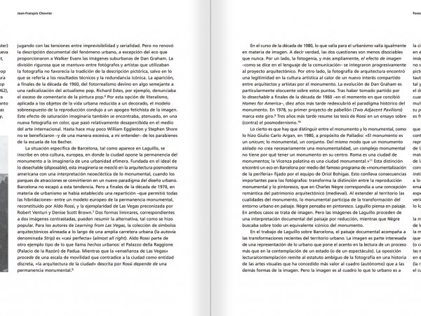 Selection from the catalogue 'Barcelona 1978-1997. Manolo Laguillo', pages 28 and 29