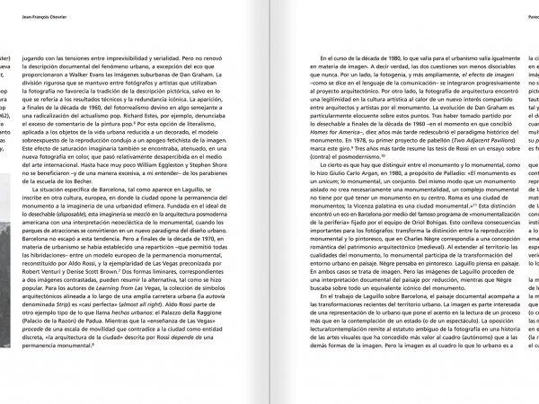 """Selecció del catàleg """"Barcelona 1978-1997. Manolo Laguillo"""" pàgines 28 i 29"""