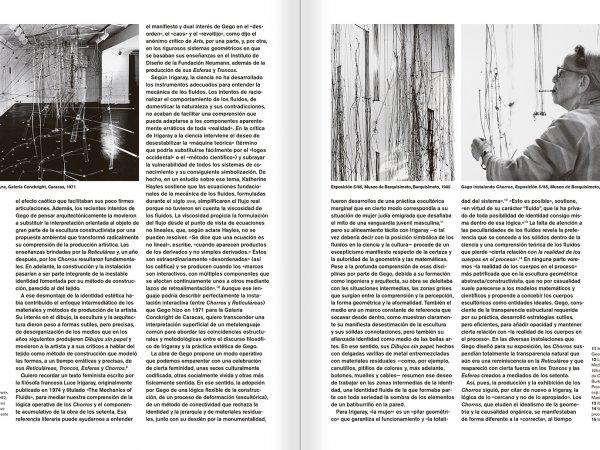 """Selecció del catàleg """"Gego. Desafiando estructuras"""" pàgines 26 i 27"""