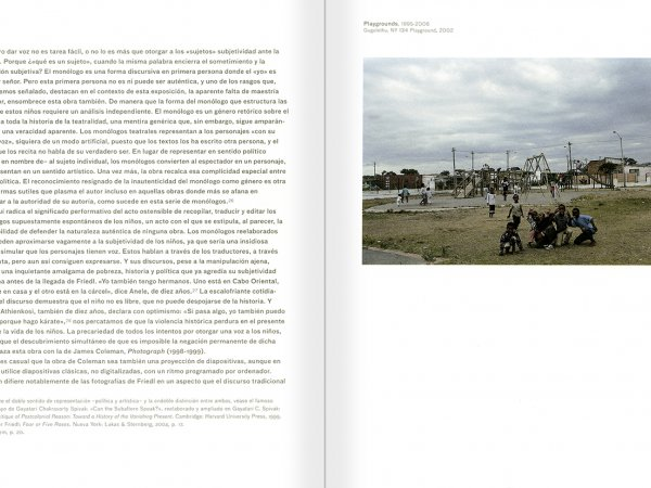 Selection from the catalogue 'Peter Friedl: Work 1964-2006', pages 102 and 103