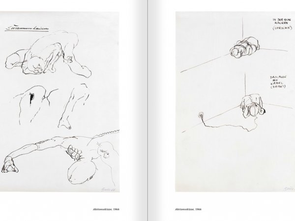 Selection from the catalogue 'Günter Brus. Nervous stillness on the horizon', pages 158 and 159