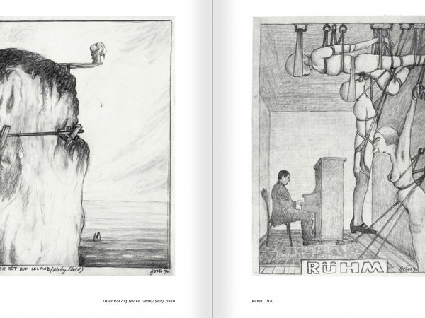 Selection from the catalogue 'Günter Brus. Nervous stillness on the horizon', pages 190 and 191