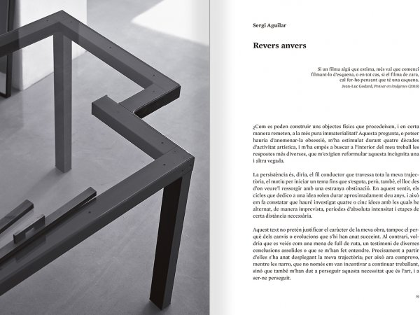 Selection from the catalogue 'Sergi Aguilar. Revers anvers', pages 18 and 19