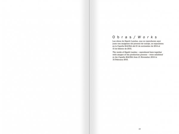 Selection from the catalogue 'La danza fenicia de la arena / Phoenician Sand Dance. Sigalit Landau', pages 18 and 19