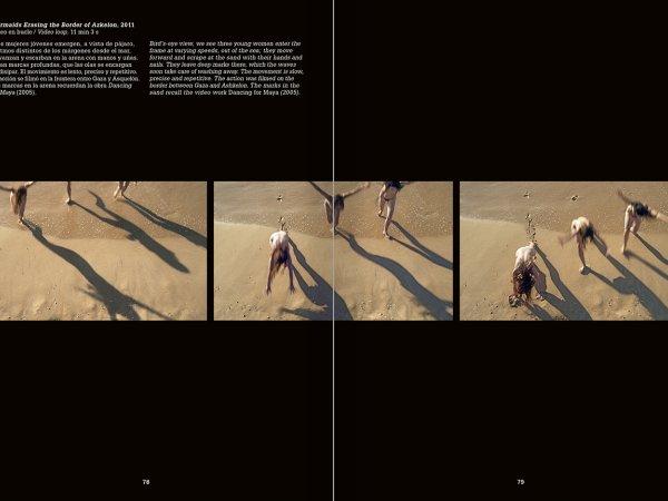 """Selecció del catàleg """"La danza fenicia de la arena / Phoenician Sand Dance. Sigalit Landau"""", pàgines 78 i 79"""
