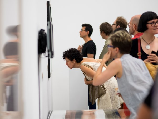 """Vistes de l'exposició """"Espècies d'espais"""", 2015. Foto: Miquel Coll"""
