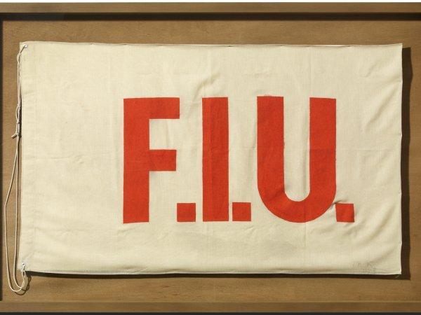 "Joseph Beuys ""F.I.U. Flag"", 1985"