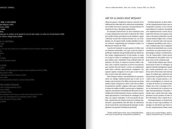 """Selecció del catàleg """"Francesc Torres. Da capo"""" pàgines 34 i 35"""
