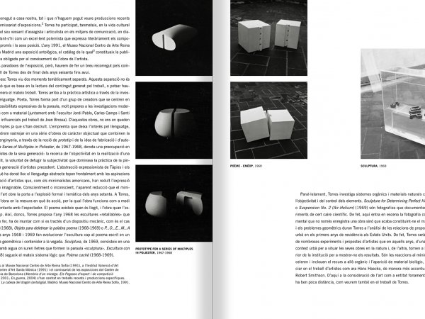Selection from the catalogue 'Francesc Torres. Da capo', pages 7 and 8
