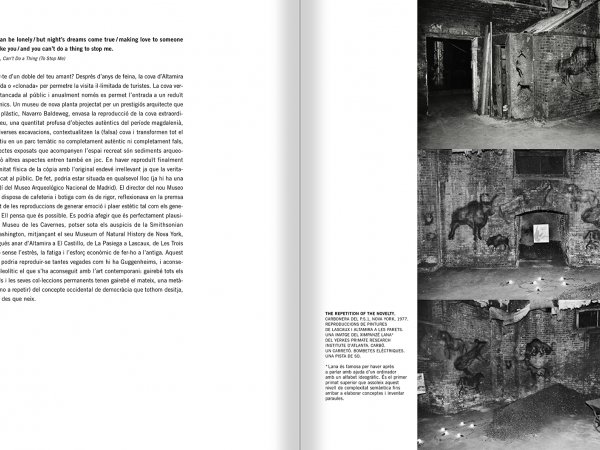 Selection from the catalogue 'Francesc Torres. Da capo', pages 162 and 163
