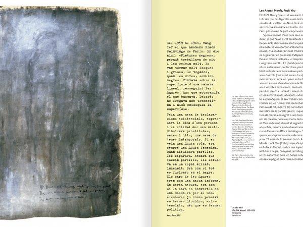 """Selecció del catàleg """"Nancy Spero. Dissidanses"""" pàgines 26 i 27"""