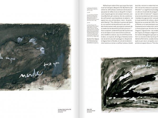 """Selecció del catàleg """"Nancy Spero. Dissidanses"""" pàgines 28 i 29"""