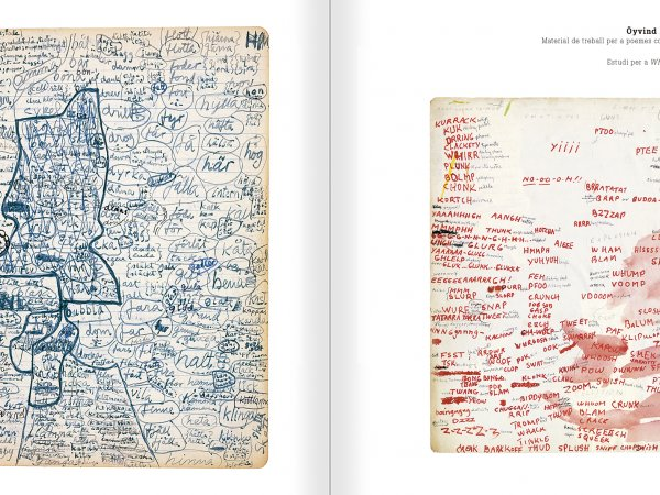 Selection from the catalogue 'Nancy Spero. Dissidances', pages 318 and 319