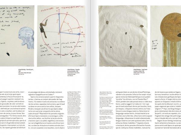 """Selecció del catàleg """"Nancy Spero. Dissidanses"""" pàgines 46 i 47"""