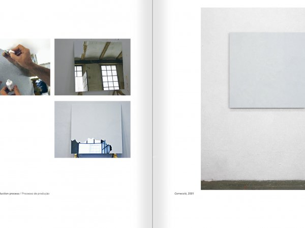 Selection from the catalogue 'Ignasi Aballí. 0-24 h', pages 184 and 185