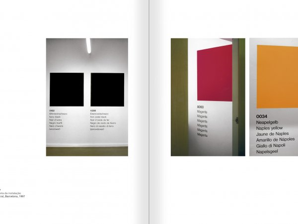 Selection from the catalogue 'Ignasi Aballí. 0-24 h', pages 198 and 199
