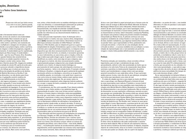 Selection from the catalogue 'A Theater without Theater', pages 46 and 47