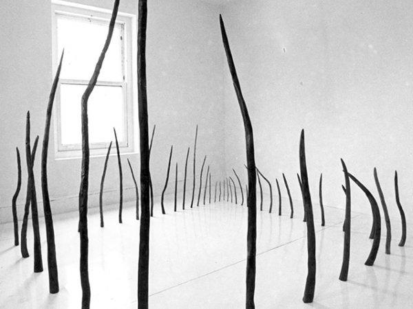 """Rosemarie Castoro """"Beaver's Trap"""", 1977-1978. Cortesía Hal Bromm gallery"""