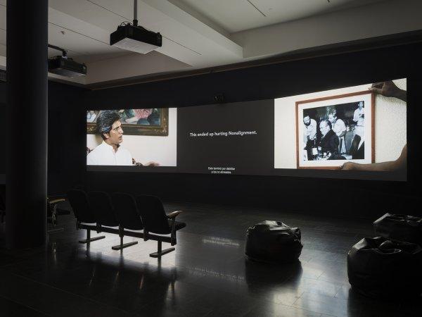 """Vistes de l'exposició """"Territoris Indefinits. Perspectives sobre el llegat colonial"""", 2019. Foto: Roberto Ruiz"""