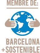 "Logo ""membre de: barcelona + sostenible"""