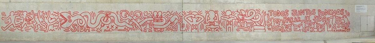 Todos juntos podemos parar el sida, Keith Haring