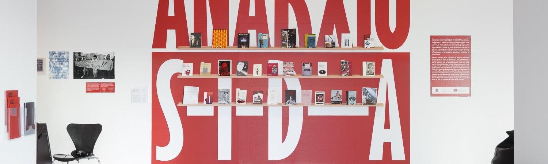 """Vista de la exposición """"Anarchivo Sida"""". Foto: Eva Carasol"""