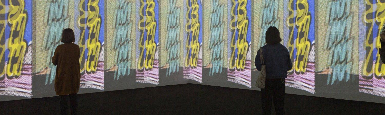 """Vista de la exposición """"Christian Marclay. Composiciones"""". Foto: Sílvia Poch"""