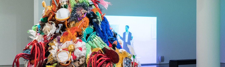 Exhibition view of 'Andrea Fraser. L'1%, c'est moi'. Photo: Miquel Coll