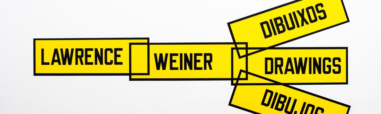 """""""Escrito en el viento. Lawrence Weiner dibujos"""", 2013"""