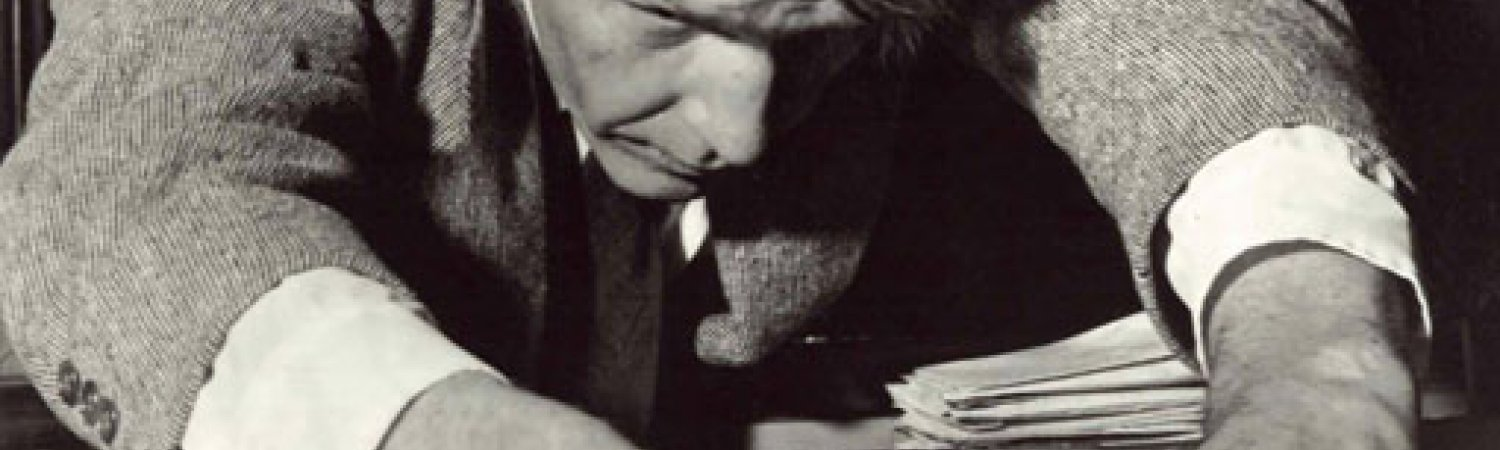 John Cage, preparing a piano (before 1950)