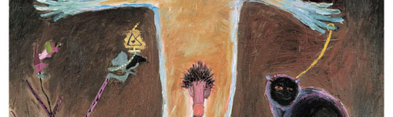 """Antoni Tàpies """"Personatge amb gat"""", 1946"""
