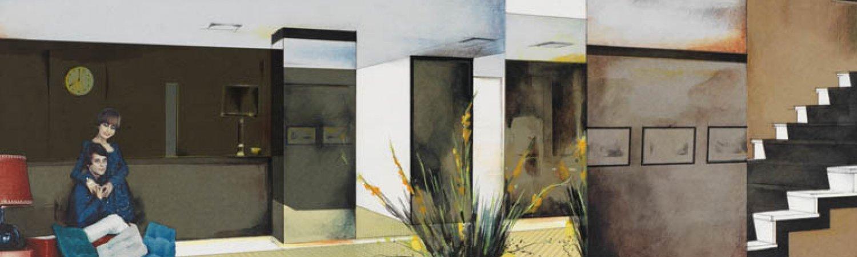"""Richard Hamilton """"Lobby"""", 1984"""