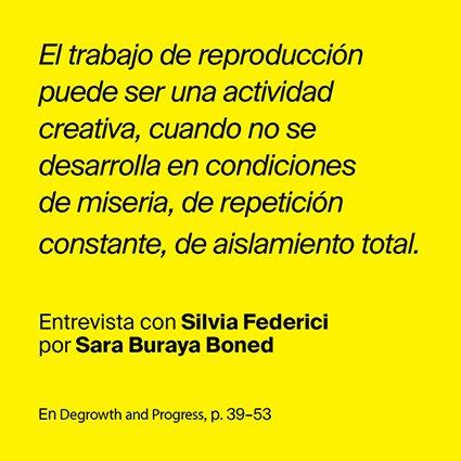 Entrevista amb Silvia Federici a càrrec de Sara Buraya Boned