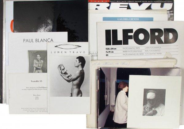 [Conjunt de documents relacionats amb l'artista Paul Blanca]