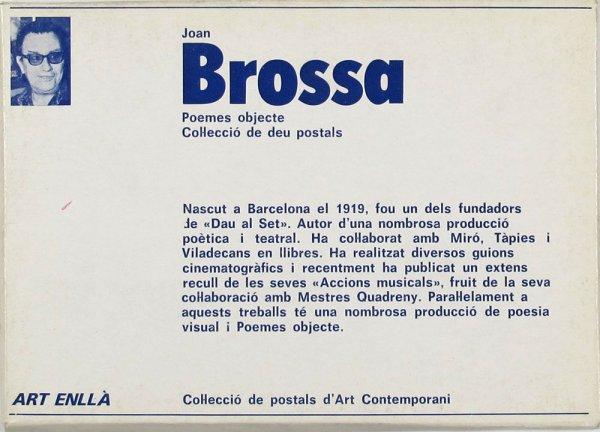 Joan Brossa : poemes objecte : col·lecció de deu postals / [text: Ramon Pinyol, Maria-Lluïsa Borràs]